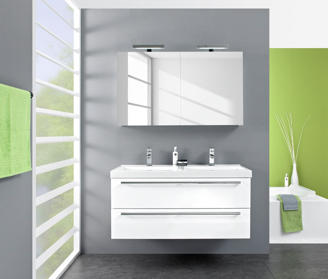 Badezimmer-Set Kodiak (7-teilig) - Hochglanz Weiß, Pelipal