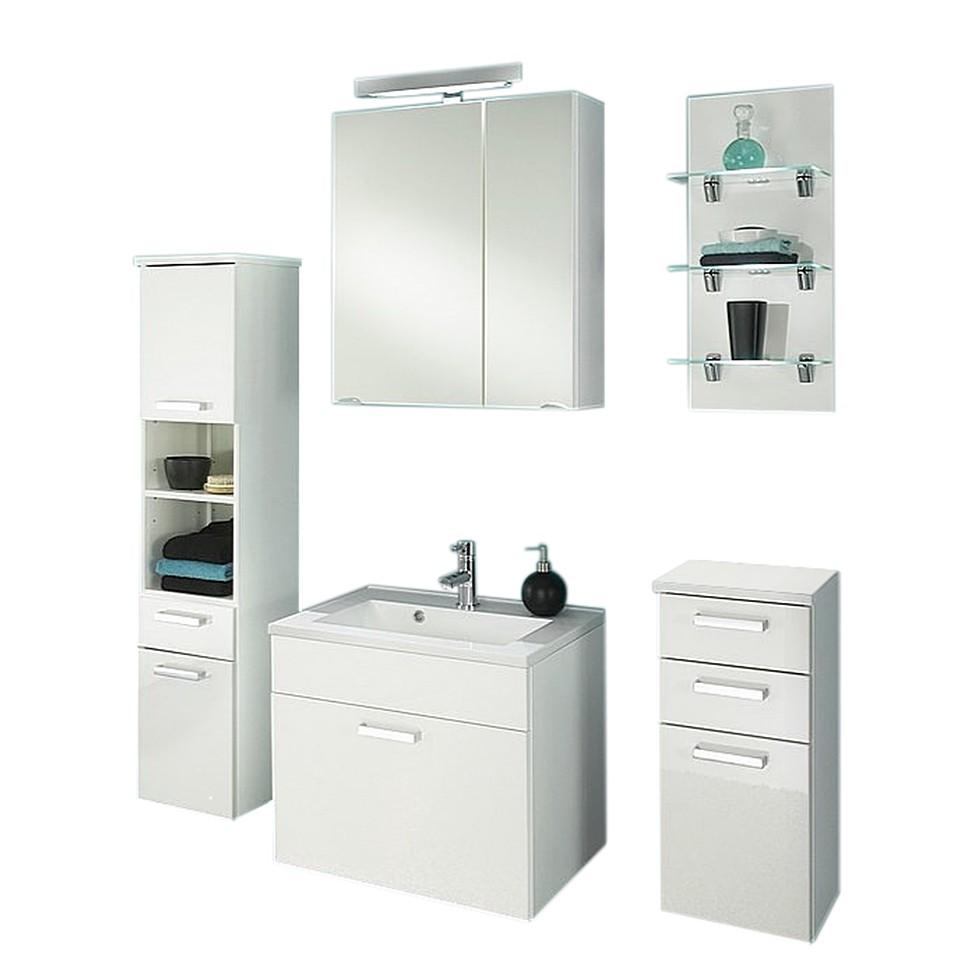 Badezimmer-Set Malaga (2-5-teilig) – Weiß – Ohne Beleuchtung, Posseik jetzt kaufen