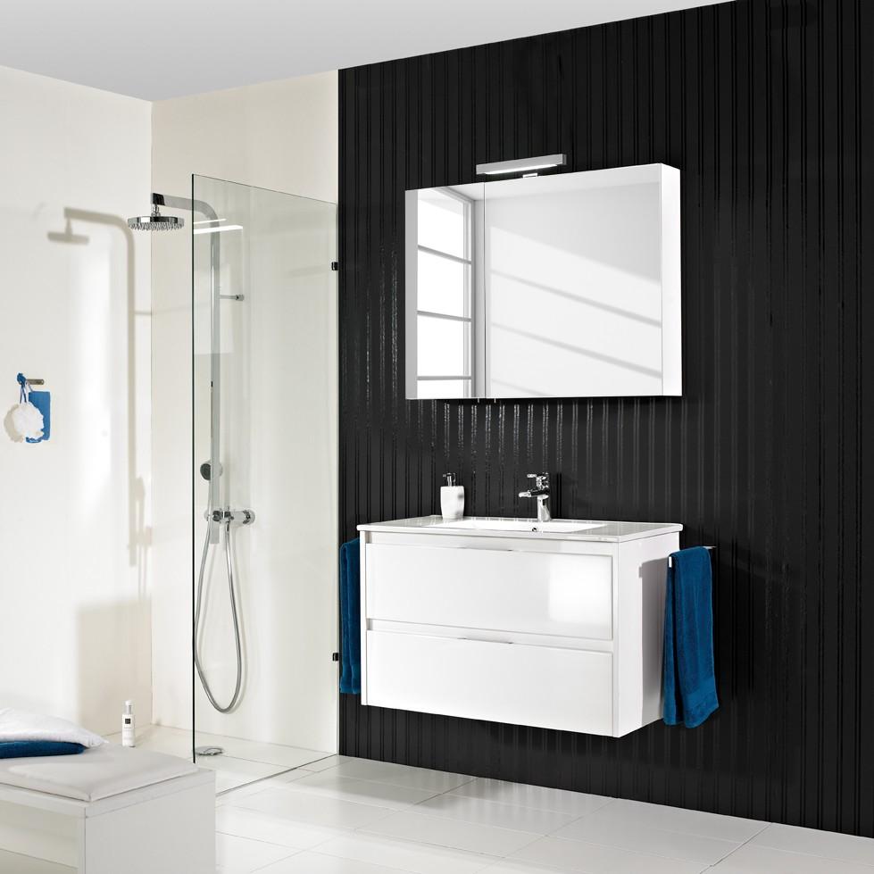 Badezimmer-Set Tahiti (4-teilig) - Hochglanz Weiß, Pelipal