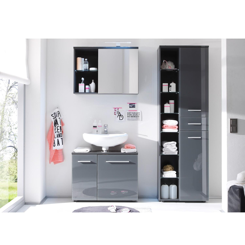 Set mobili da bagno 4 pezzi Weddell - Griglio lucido, Modoform