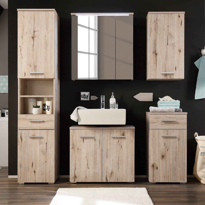 shopendix.de - bad | badezimmerset (5-teilig) morson - sandeiche, Badezimmer ideen