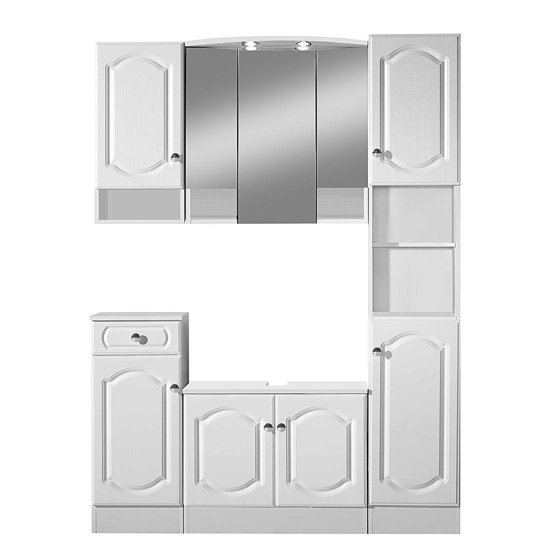 badezimmerset alesund wei 5er set. Black Bedroom Furniture Sets. Home Design Ideas
