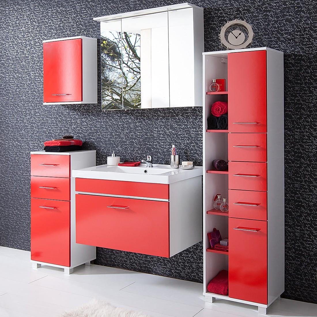 Badezimmerset Amy (5-teilig) – Rot/Weiß, Giessbach kaufen