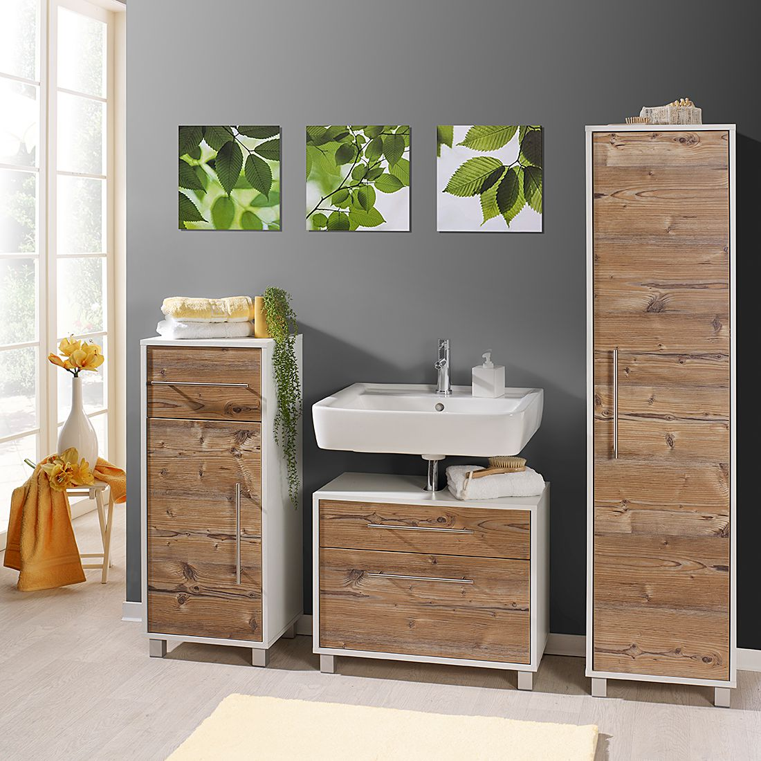 badezimmerset moncton i 3 teilig silberfiche dekor wei giessbach g nstig kaufen. Black Bedroom Furniture Sets. Home Design Ideas