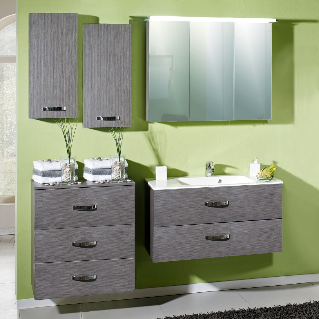 Badezimmerset Villian (5-teilig) – Esch Grau Dekor, Giessbach jetzt bestellen