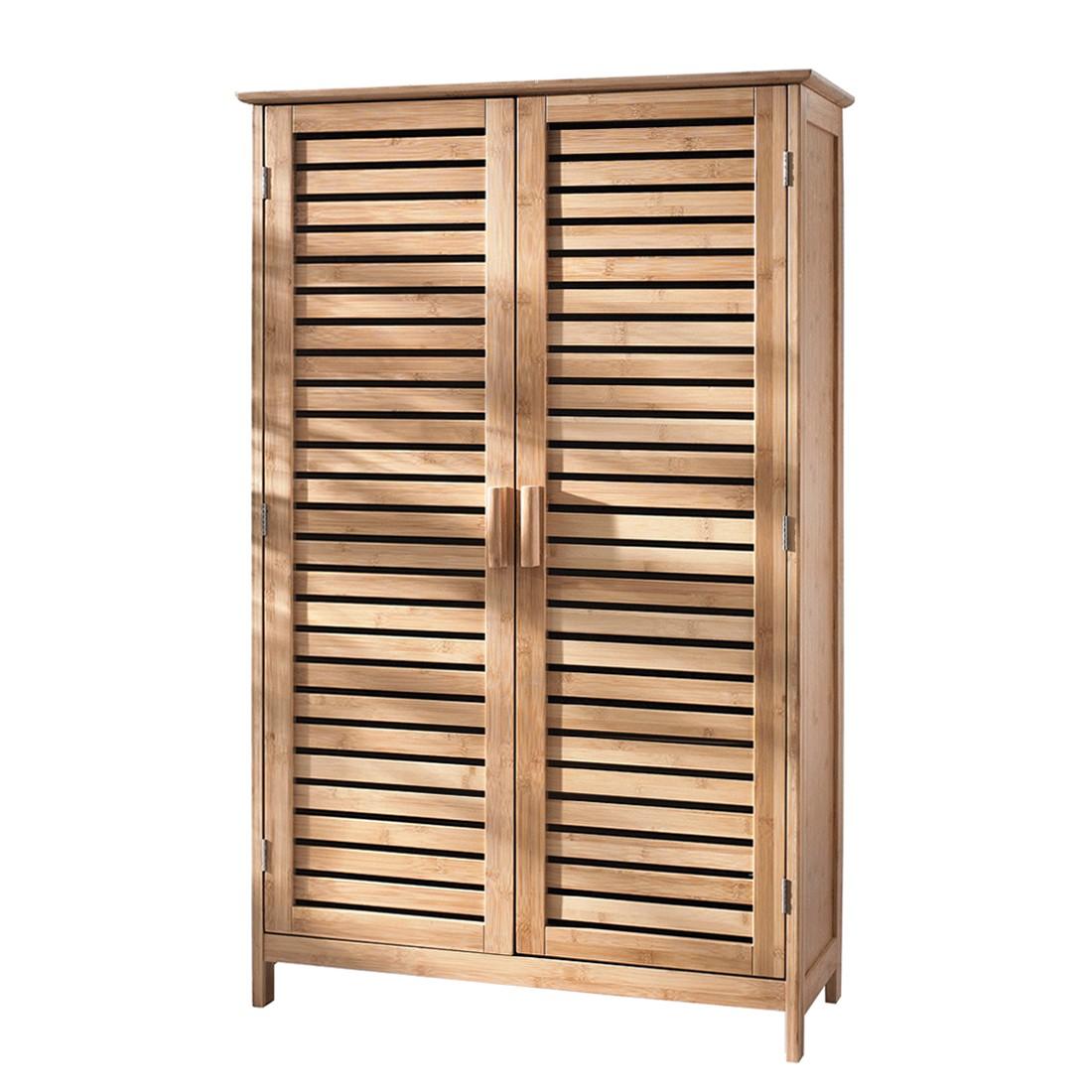 Badschrank Bamboo - Bambus - braun