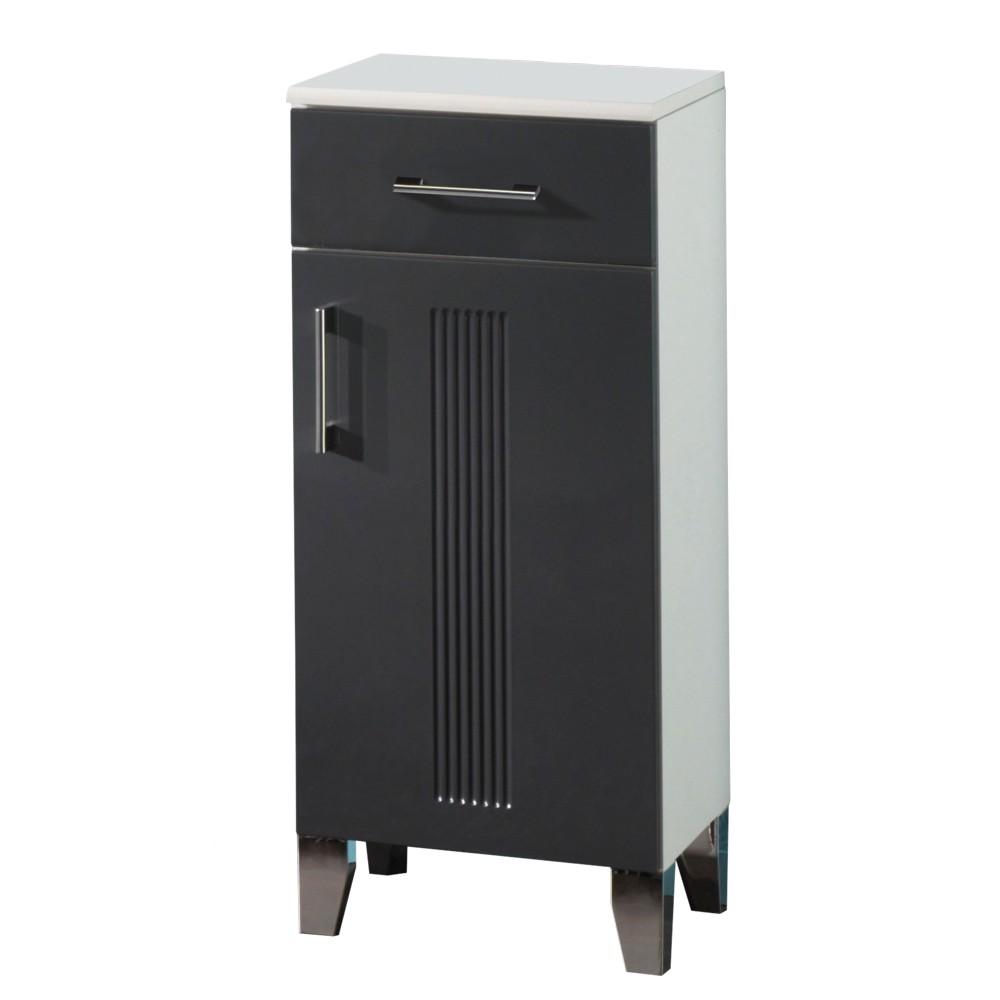 badschrank greeceline grau wei mdf front. Black Bedroom Furniture Sets. Home Design Ideas
