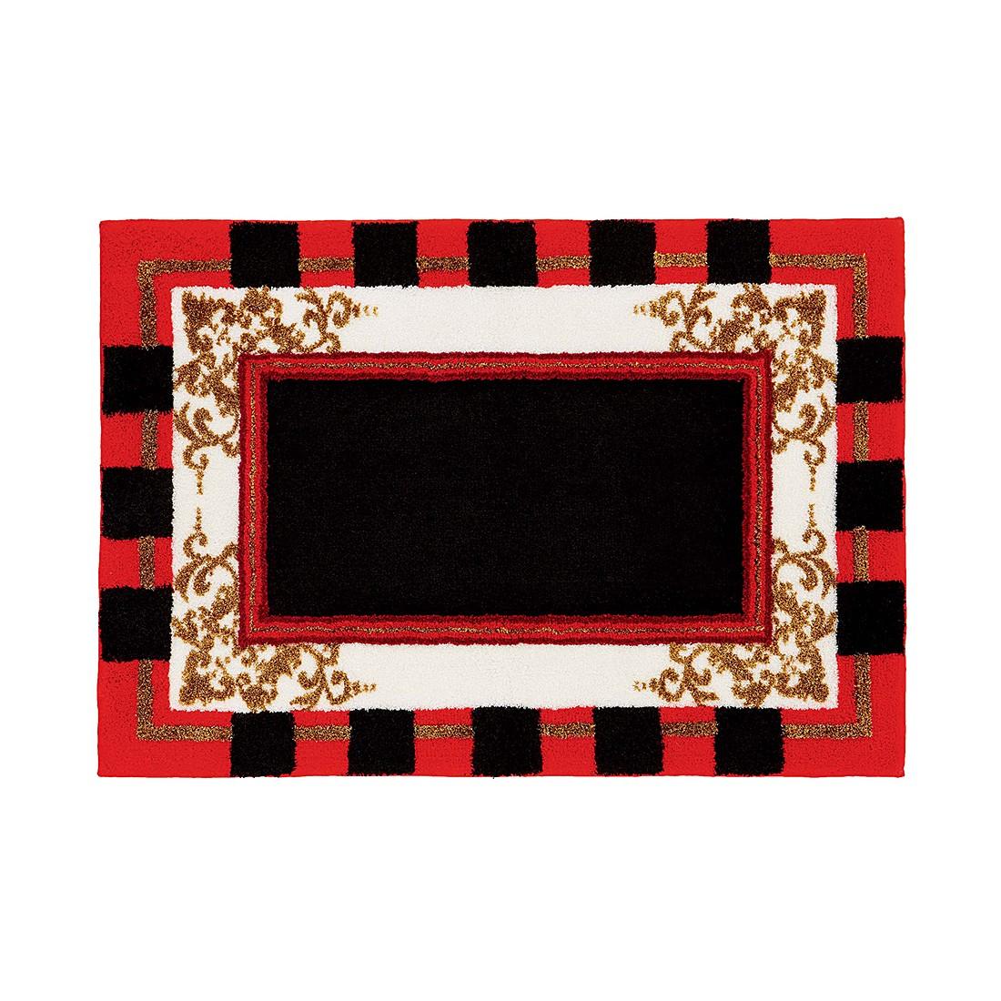 Badteppich Baroque – 90 x 125 cm – Rot, Grund günstig bestellen
