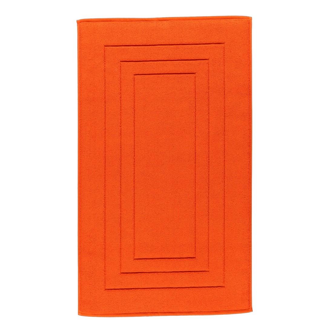 Badteppich Calypso Feeling – 100% Baumwolle mandarine – 352 – Toilettenvorlage: 59 x 59 cm, Vossen günstig kaufen