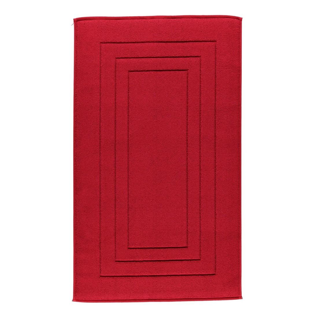 Badteppich Calypso Feeling – 100% Baumwolle rubin – 390 – Toilettenvorlage: 59 x 59 cm, Vossen günstig kaufen