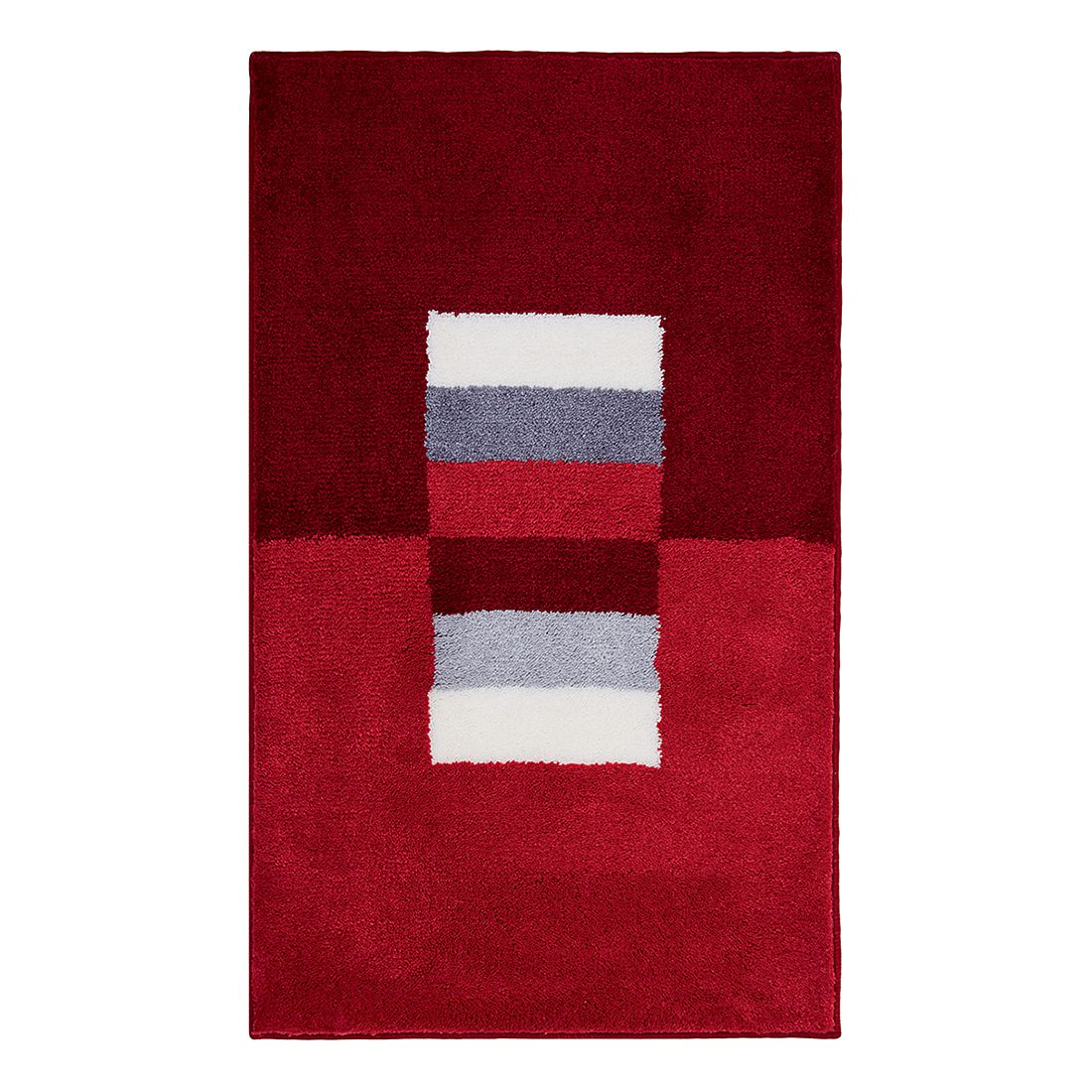 Badteppich Capri – Rot – Größe: 60 x 90 cm, Grund günstig kaufen