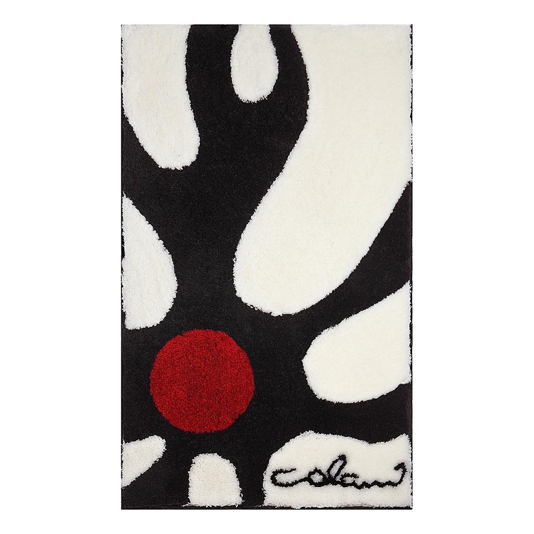 Badteppich Colani 12 – Weiß / Schwarz – WC-Vorlage: 60 x 60 cm, Colani günstig online kaufen