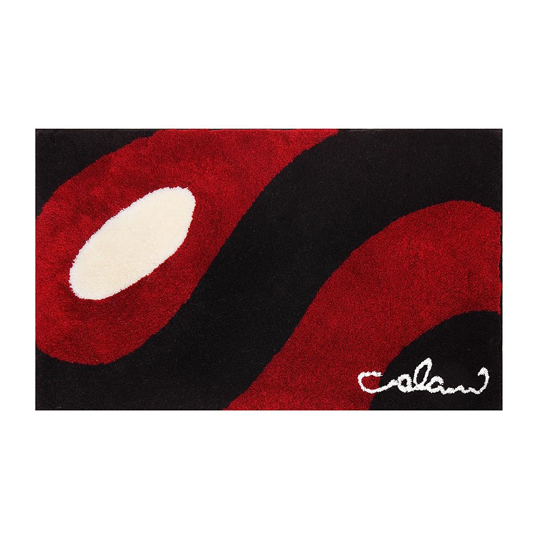 Badteppich Colani 35 – Schwarz / Rot – Größe: 140 x 80 cm, Colani günstig kaufen