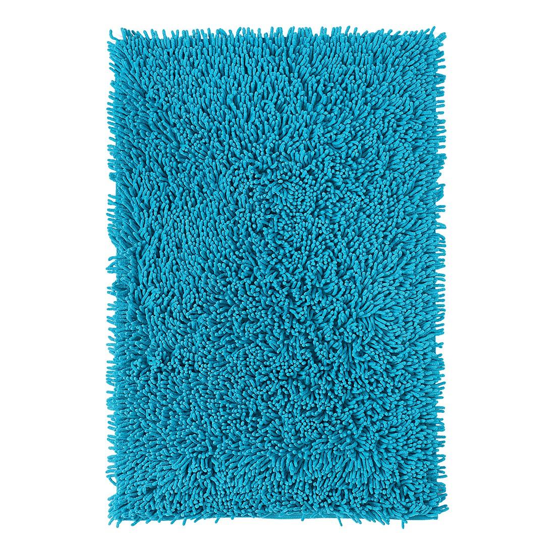 Badteppich Corall - Türkis - WC-Vorlage: 55 x 55 cm, Grund