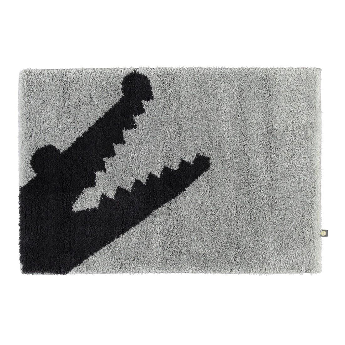 Badteppich Croc – 100% Polyacryl perlGrau/kaviar – 1212 – Abmessungen: 50 x 65 cm, Rhomtuft günstig online kaufen
