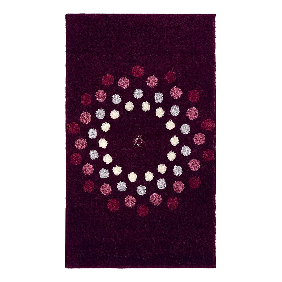 Badteppich Crystal Blossom – Bordeaux – Größe: 120 x 70 cm, Grund günstig kaufen