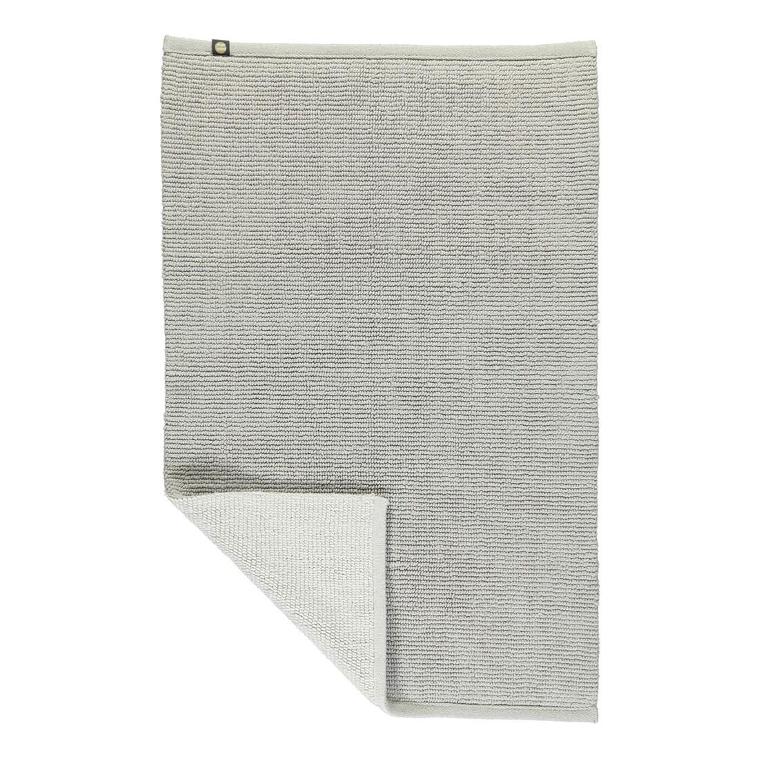Badteppich Double – 100% Baumwolle perlGrau/Weiß – 1156 – Abmessungen: 60 x 120 cm, Rhomtuft bestellen