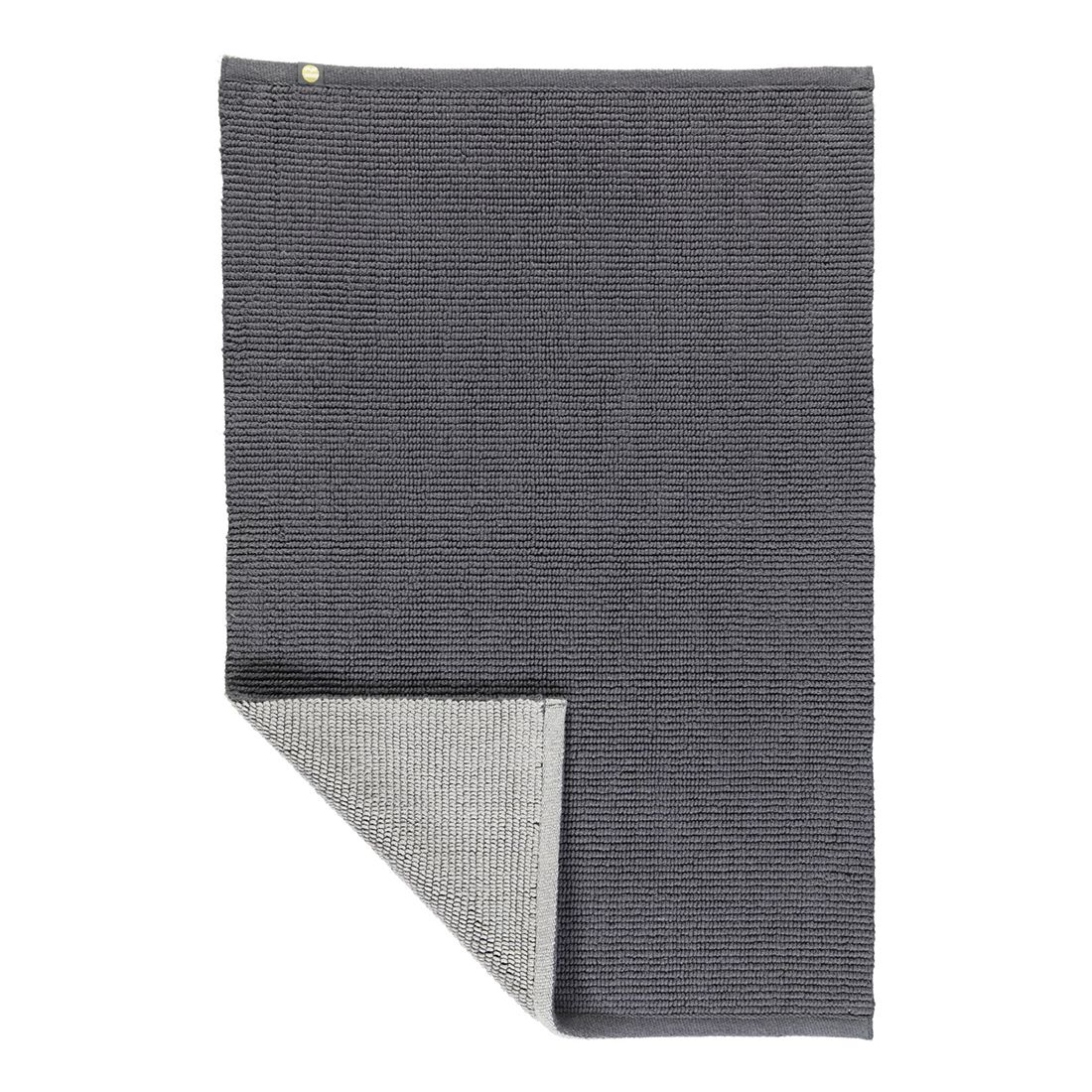 Badteppich Double – 100% Baumwolle zinn/kiesel – 1157 – Abmessungen: 60 x 90 cm, Rhomtuft online bestellen