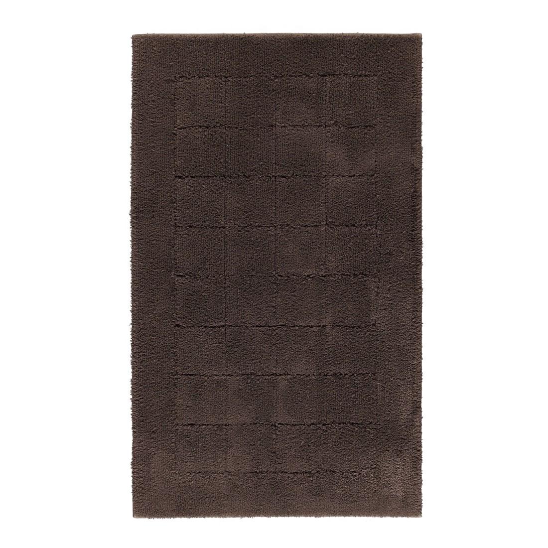 Badteppich Exclusive – 100% Baumwolle dark brown – 693 – Toilettenvorlage: 50 x 55 cm, Vossen kaufen