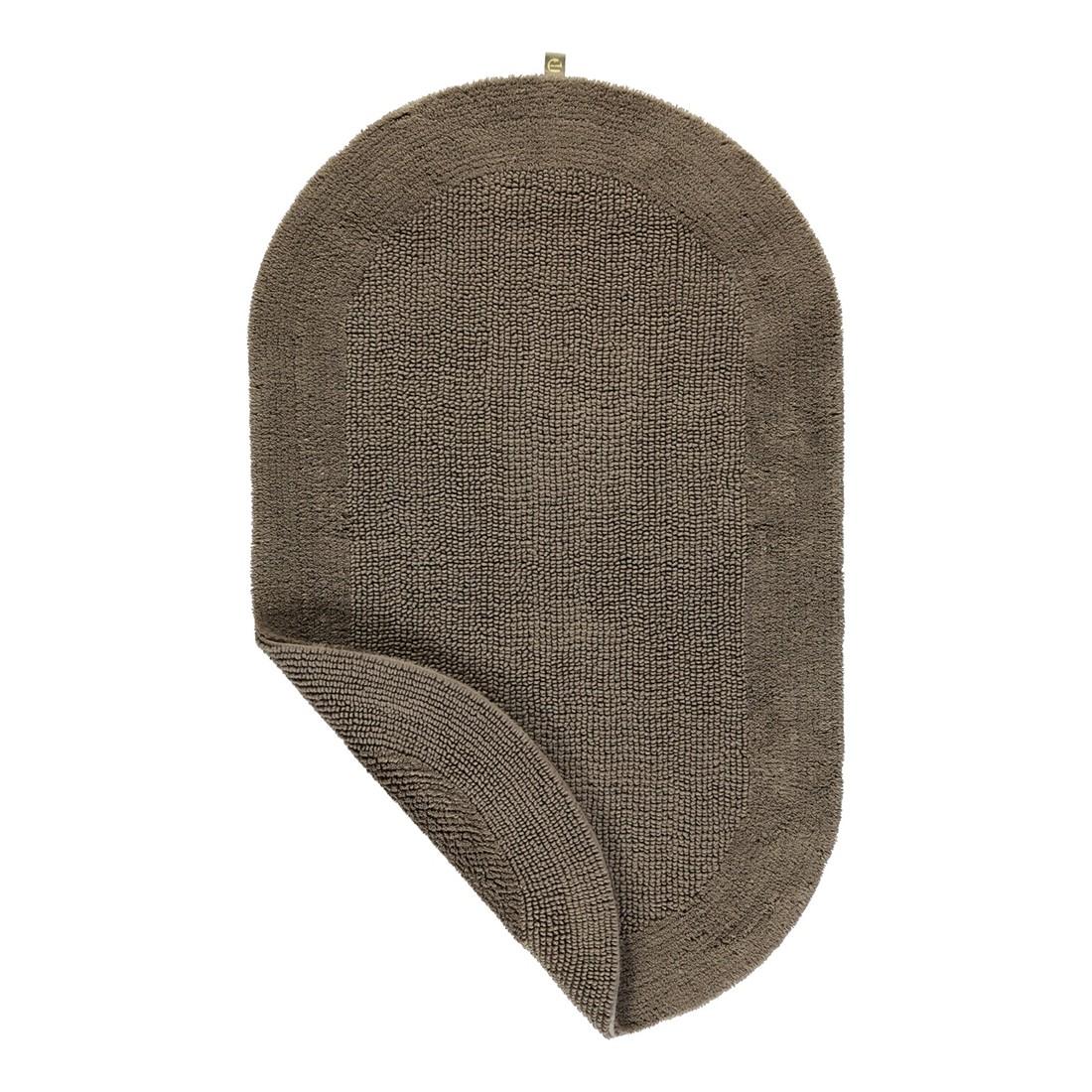 Badteppich Exquisit – 100% Baumwolle taupe – 58 – 60 x 100 cm, Rhomtuft jetzt bestellen