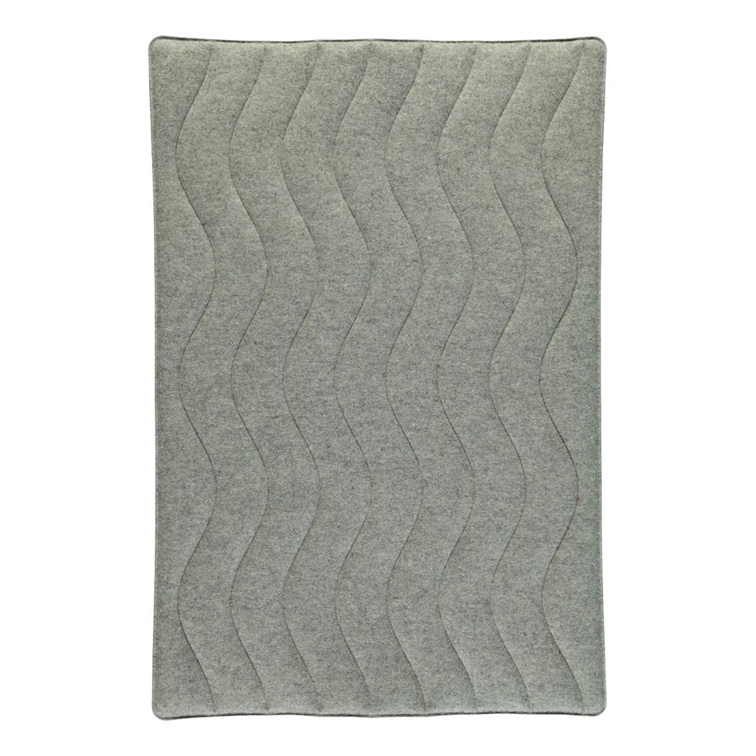 Badteppich Feel – 100% Filz kiesel meliert/- Anthrazit – 1174 – 50 x 60 cm, Rhomtuft kaufen