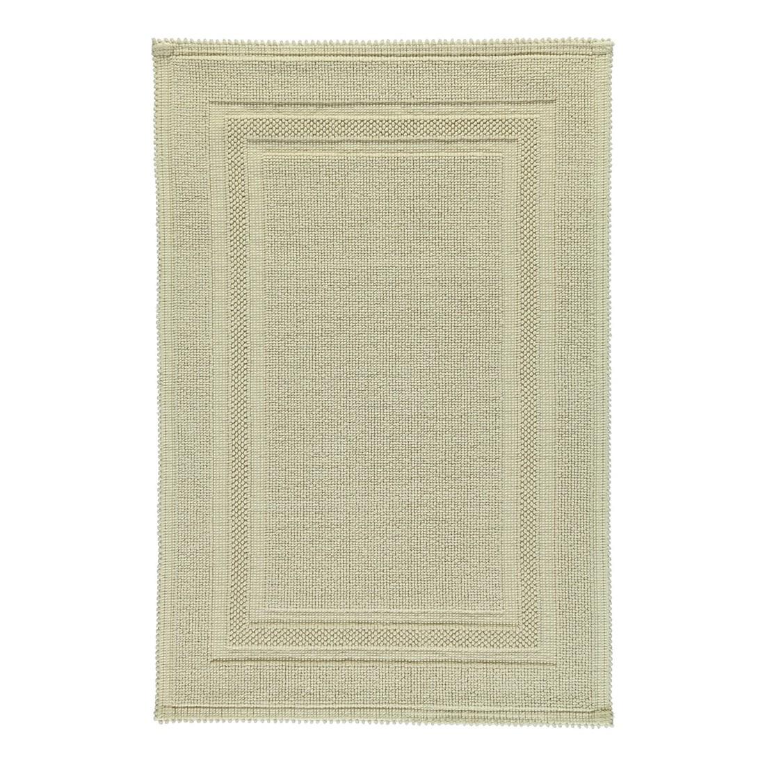 Badteppich Grace – 100% Baumwolle – Beige – 42 – 60 x 90 cm, Rhomtuft online kaufen
