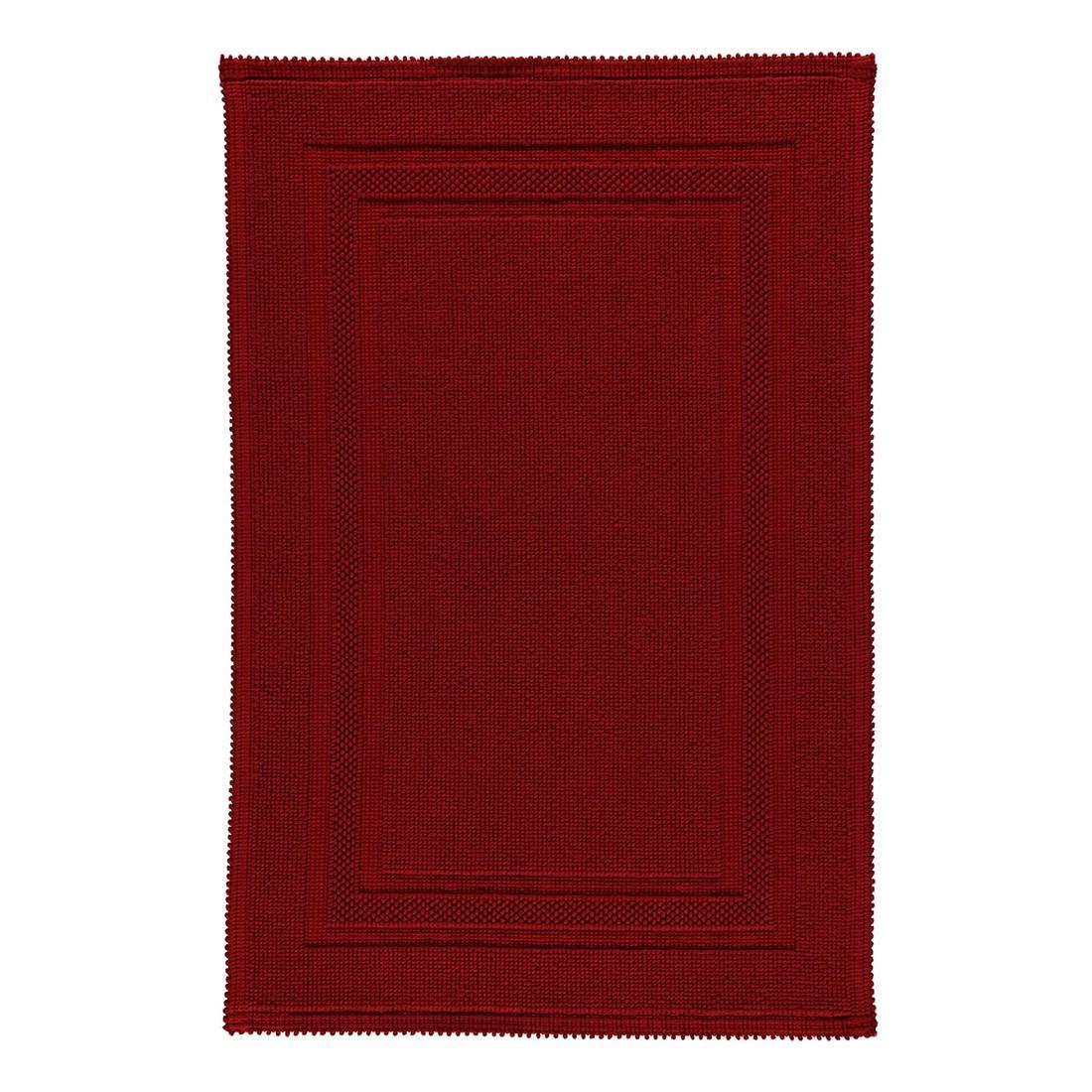 Badteppich Grace – 100% Baumwolle cardinal – 349 – 60 x 90 cm, Rhomtuft online bestellen