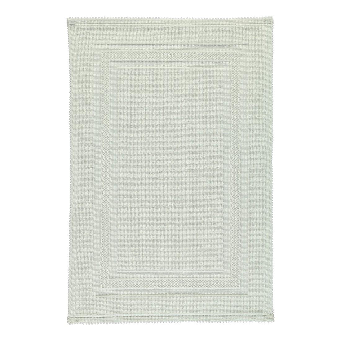 Badteppich Grace – 100% Baumwolle Weiß – 01 – 60 x 90 cm, Rhomtuft kaufen