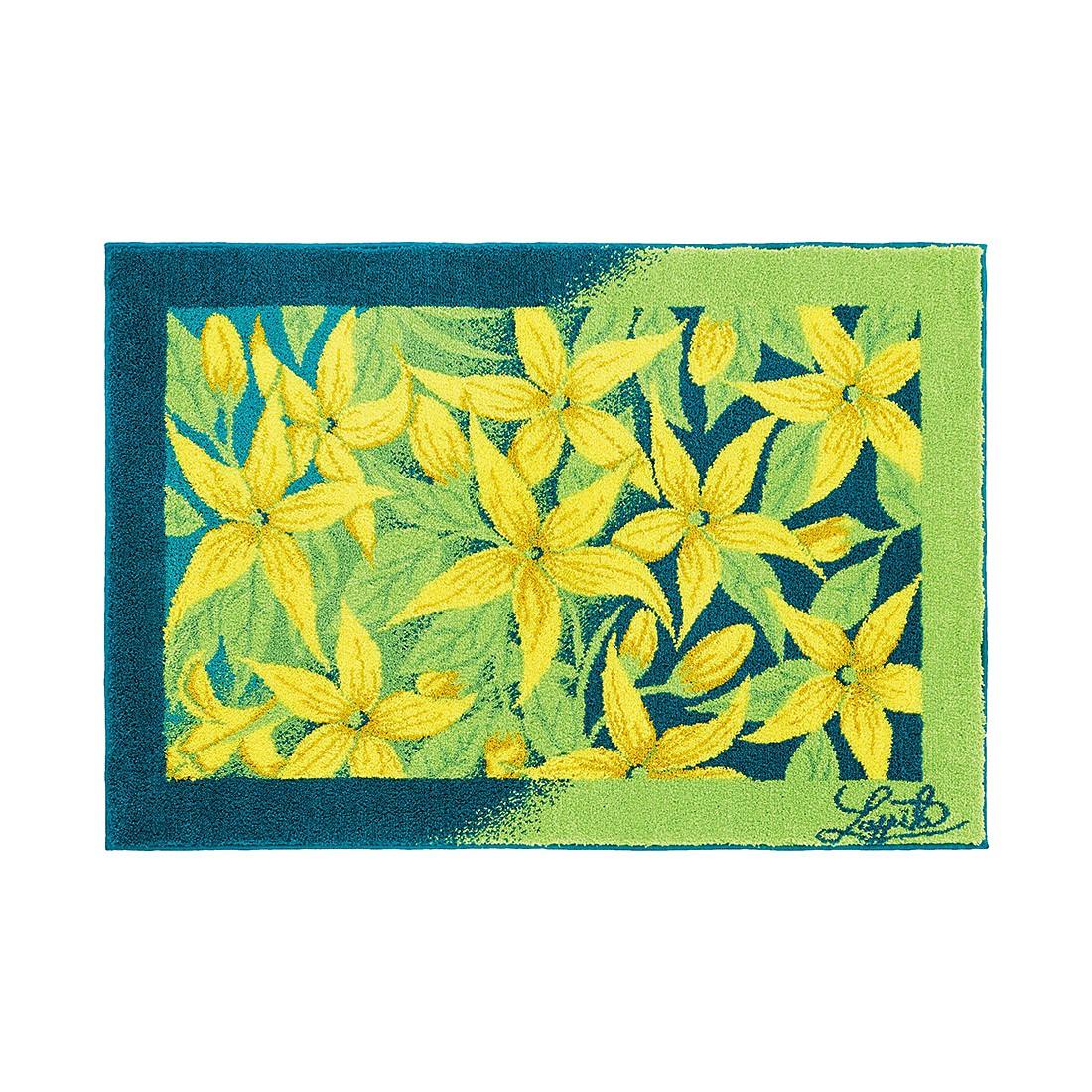 Badteppich Jasmin – 90 x 135 cm – Grün / Blau, Grund günstig kaufen