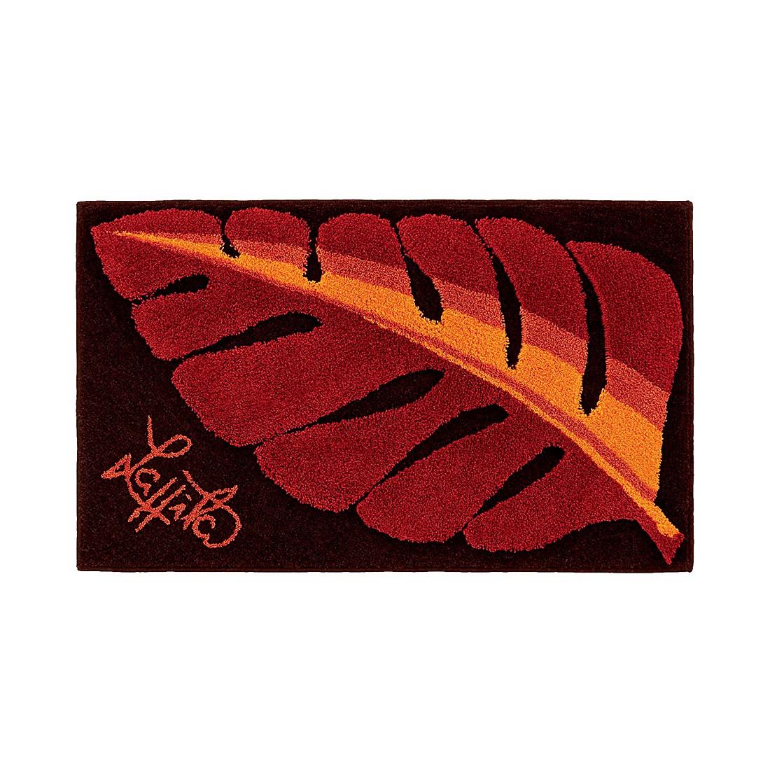 Badteppich Leaf – 50 x 60 cm – Rot, Grund günstig kaufen