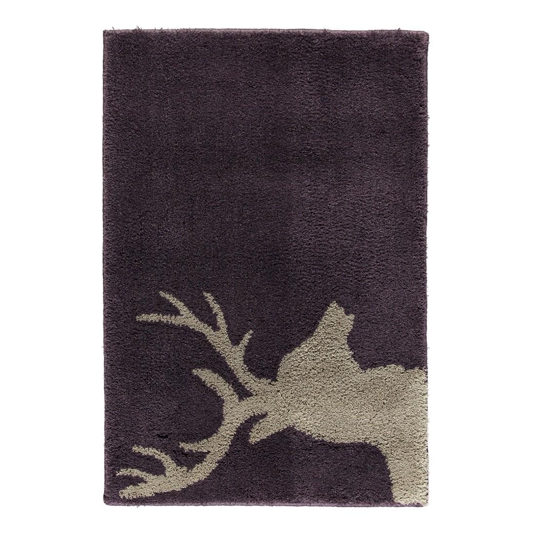 Badteppich Lord – 100% Polyacryl BlauBeere/taupe – 1319 – 70 x 130 cm, Rhomtuft günstig bestellen
