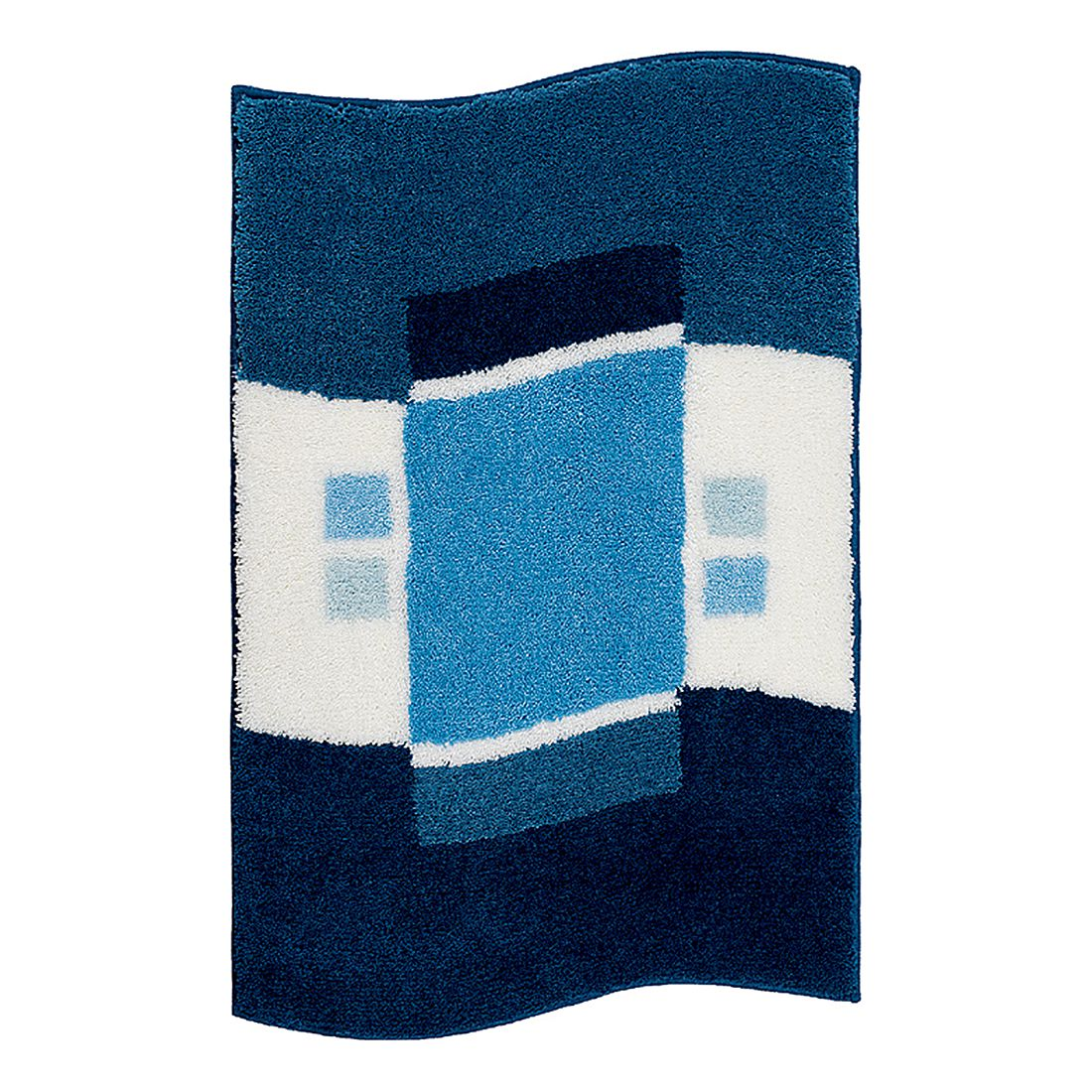Badteppich Lugano – Blau – Größe: 65 x 115 cm, Grund bestellen