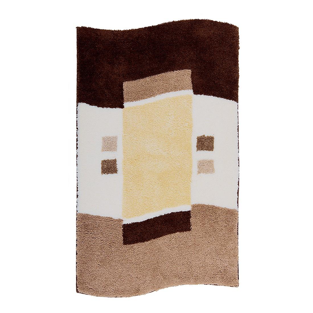 badteppich lugano braun wc vorlage ohne ausschnitt grund g nstig kaufen. Black Bedroom Furniture Sets. Home Design Ideas