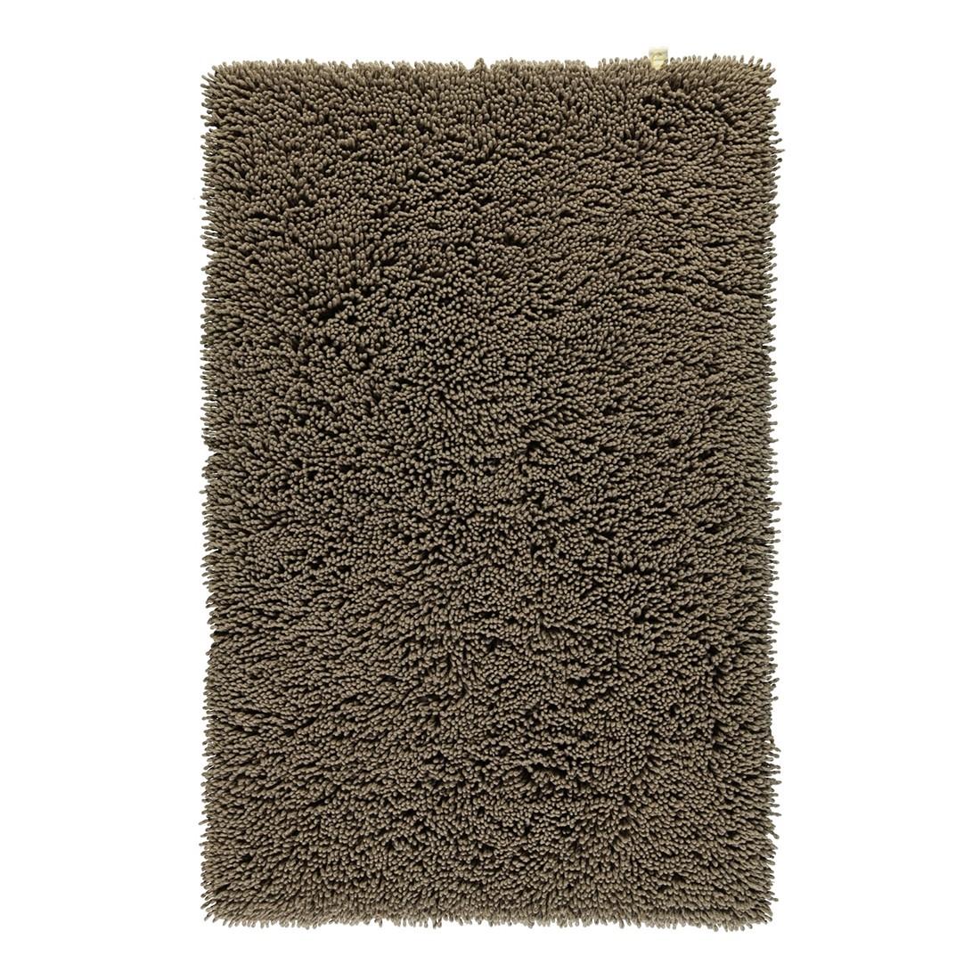 Badteppich Luxury Twist – 100% Baumwolle taupe – 58 – 70 x 120 cm, Rhomtuft günstig kaufen