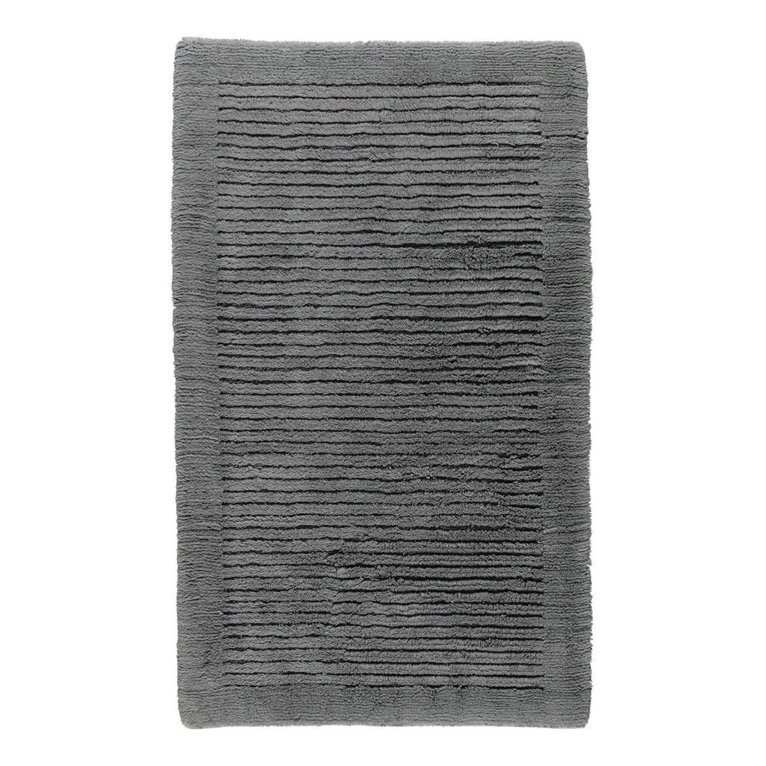 Badteppich Luxus 1002 – 100% Baumwolle – Anthrazit – 774 – Abmessungen: 60 x 100 cm, Cawö günstig online kaufen