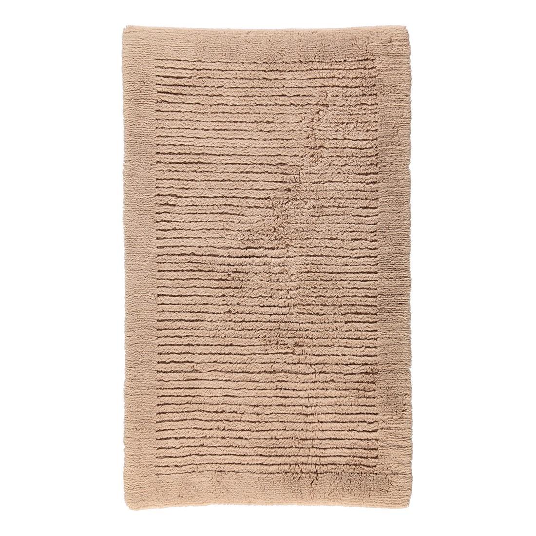 Badteppich Luxus 1002 - 100% Baumwolle Sand - 375 - Abmessungen: 70 x 120 cm, Cawö