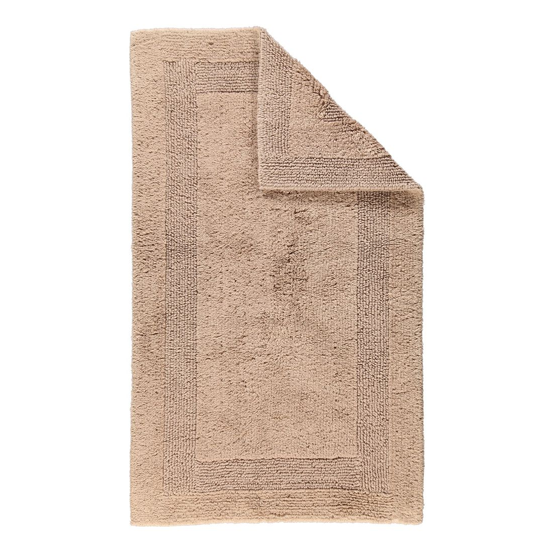 Badteppich Luxus Badteppich 1000 – 100% Baumwolle Sand – 375 – Abmessungen: 60 x 100 cm, Cawö bestellen
