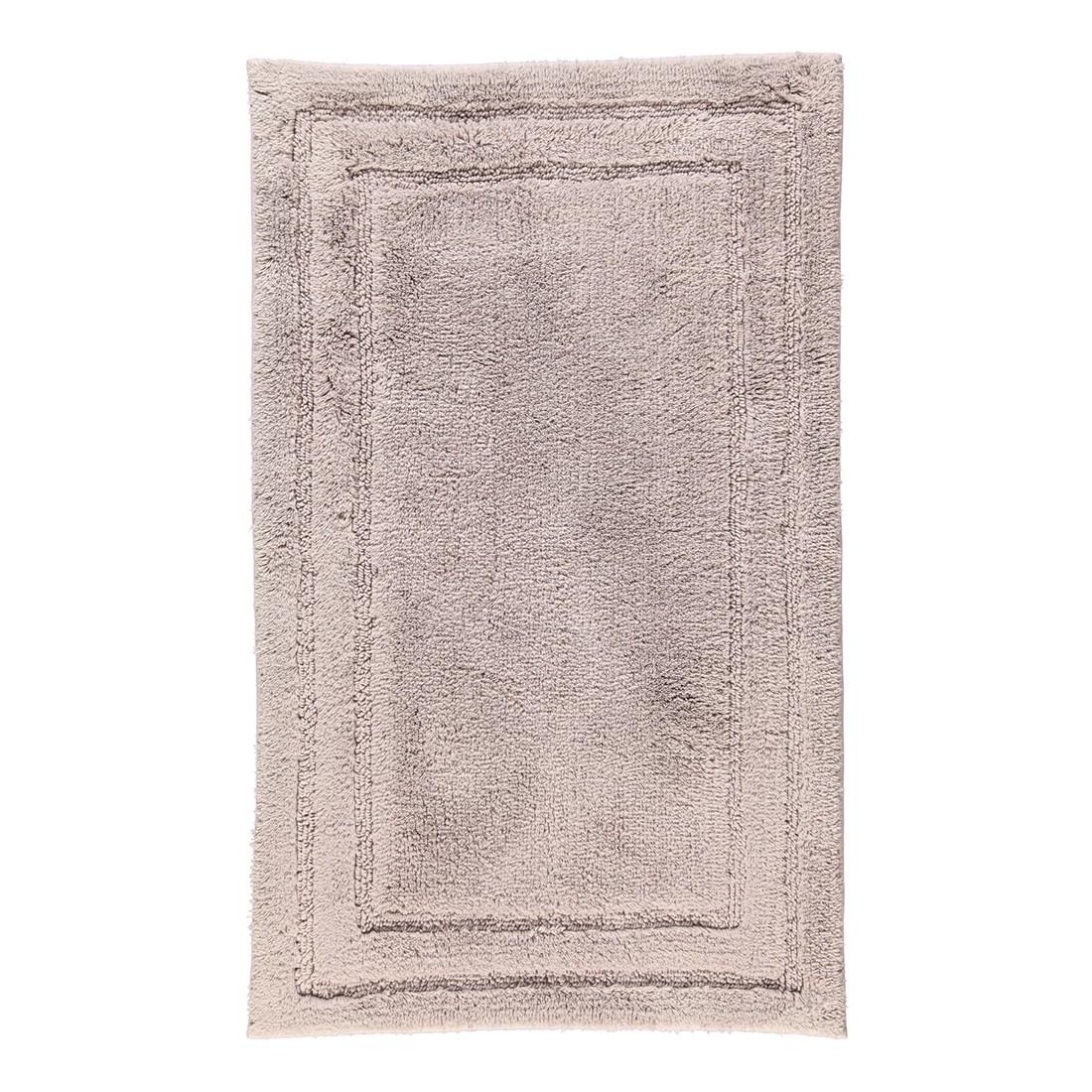 Badteppich Luxus Badteppich 1003 - 80% Baumwolle, 20% Viskose Silber - 775 - Abmessungen: 70 x 120 cm, Cawö