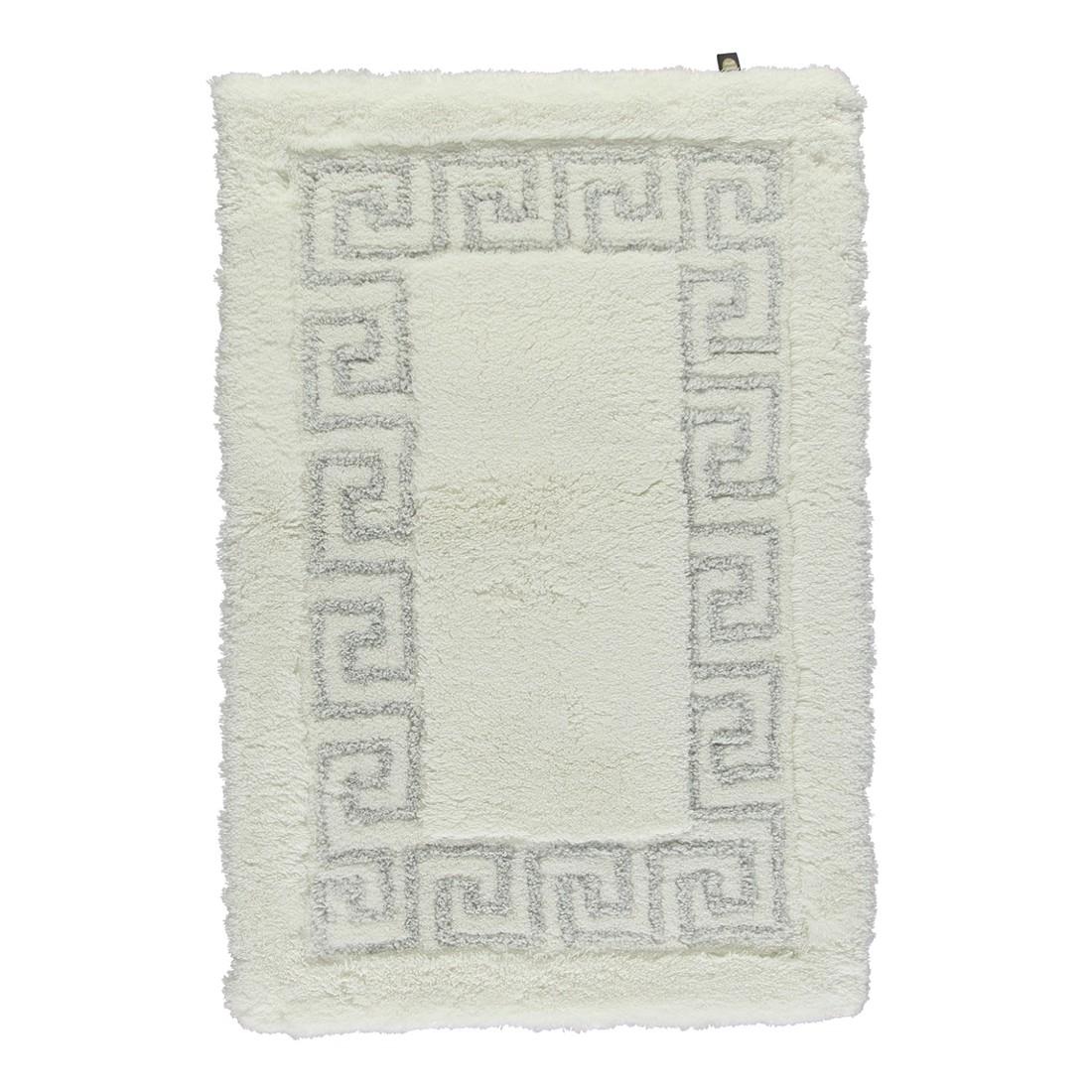 Badteppich Mäander – 100% Polyacryl Weiß/Weiß-Silberlurex – 1322 – Toilettenvorlage: 60 x 60 cm, Rhomtuft günstig bestellen