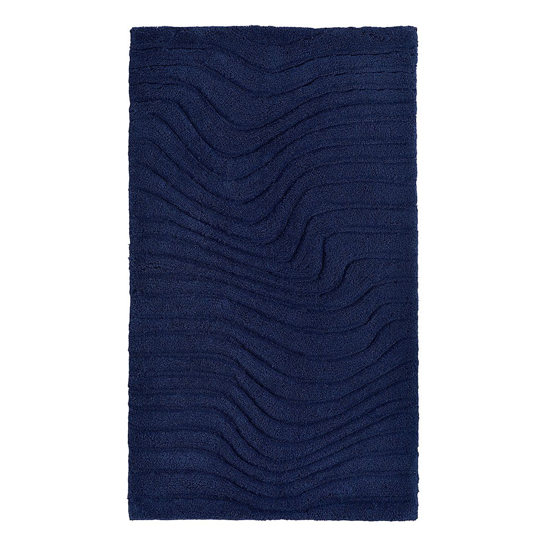 Badteppich Marea - Dunkelblau - Größe: 120 x 70 cm, Grund