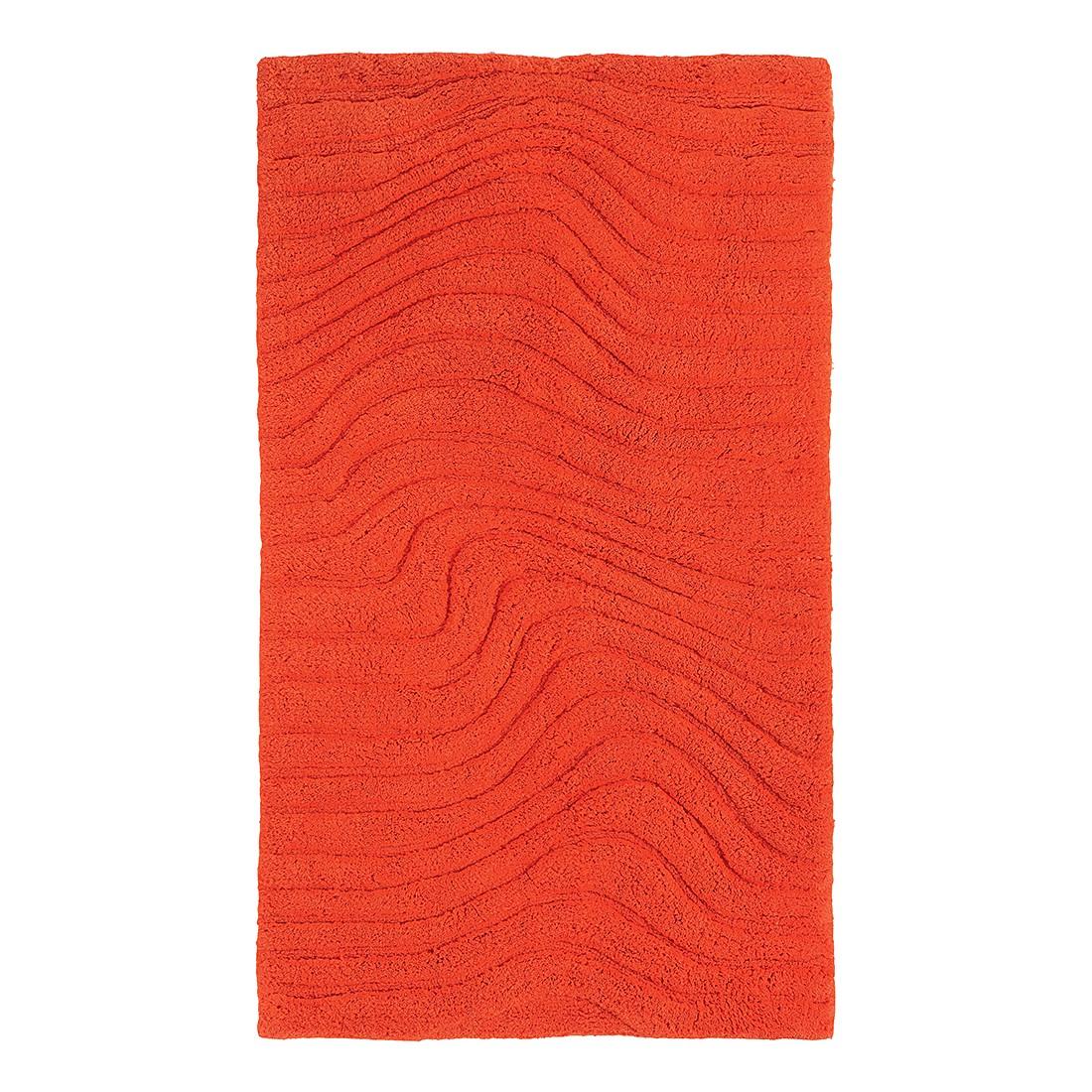 Badteppich Marea – Orange – WC-Vorlage: 50 x 60 cm, Grund jetzt bestellen