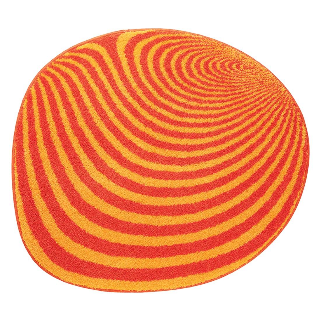 Badteppich Pebble - Orange - Rund, Grund
