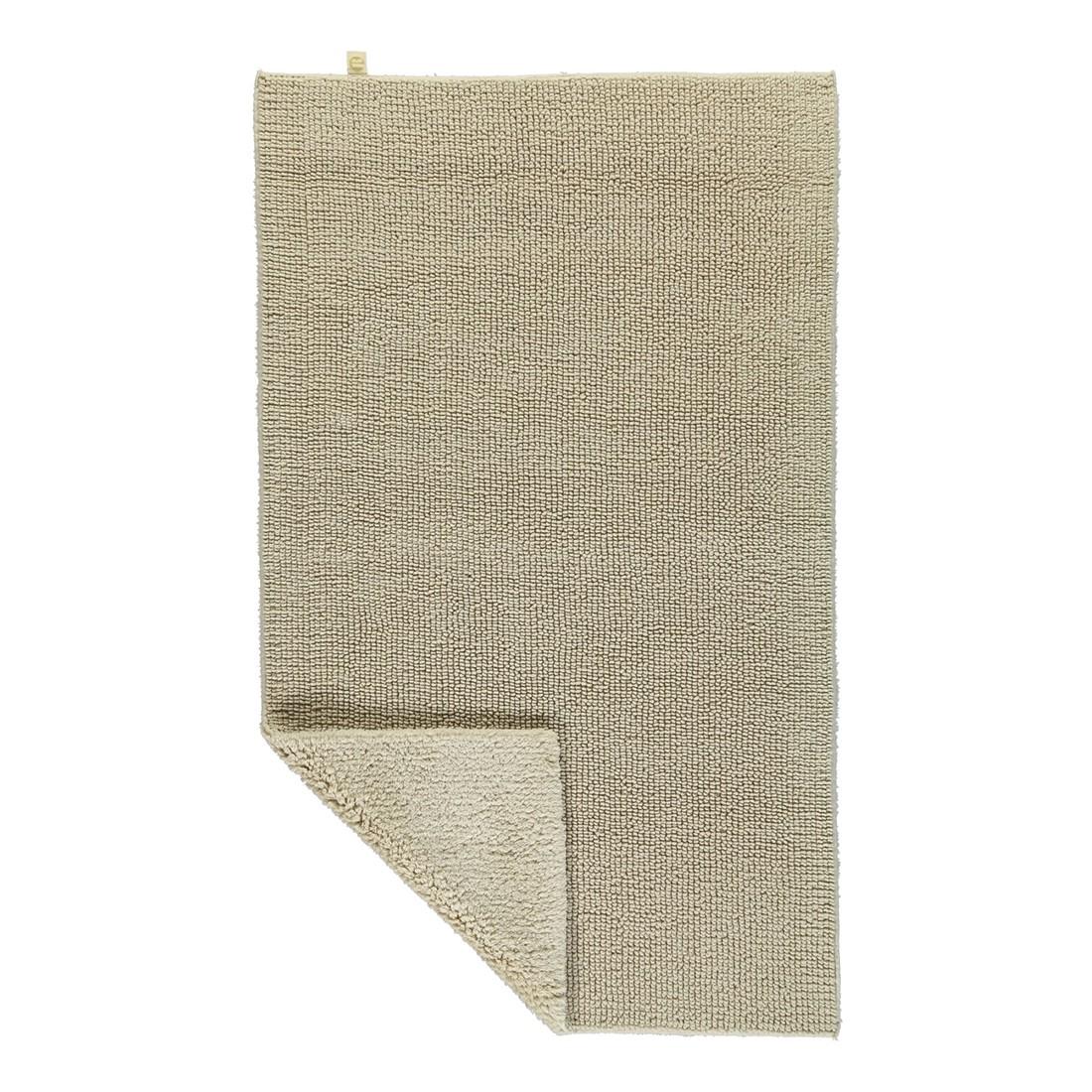 Badteppich Pur - 100% Baumwolle - Beige - 42 - 70 x 130 cm, Rhomtuft