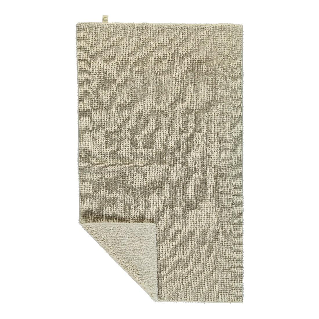 Badteppich Pur - 100% Baumwolle Natur-jasmin - 20 - 70 x 130 cm, Rhomtuft
