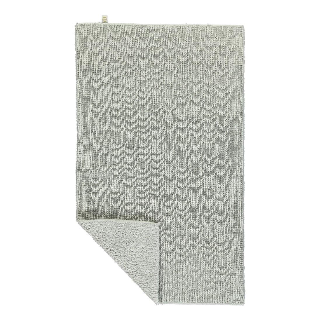 Badteppich Pur - 100% Baumwolle perlGrau - 11 - 70 x 130 cm, Rhomtuft