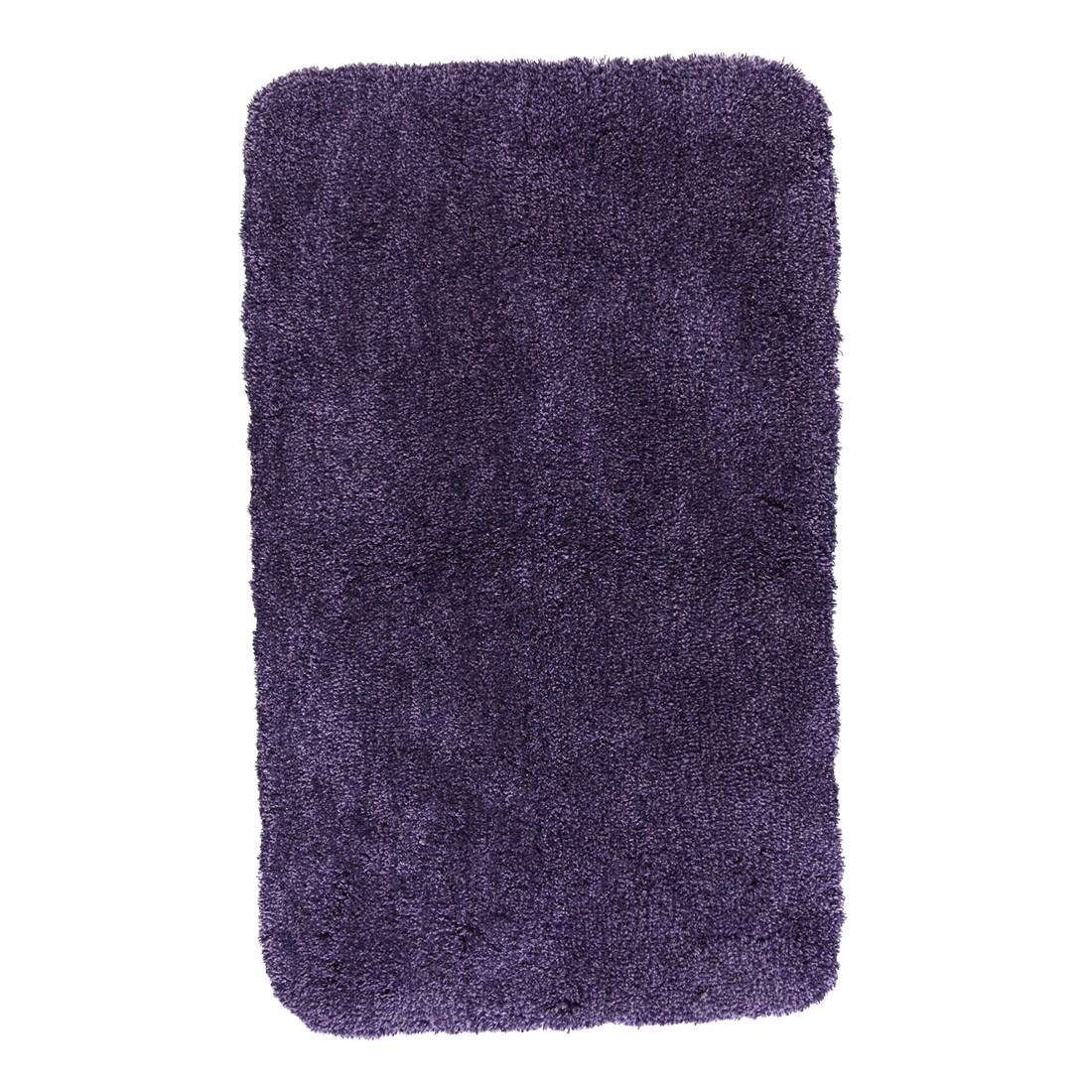 Badteppich Relax - 100% Polyacryl Aubergine - 872 - Toilettenvorlage: 55 x 55 cm, Kleine Wolke