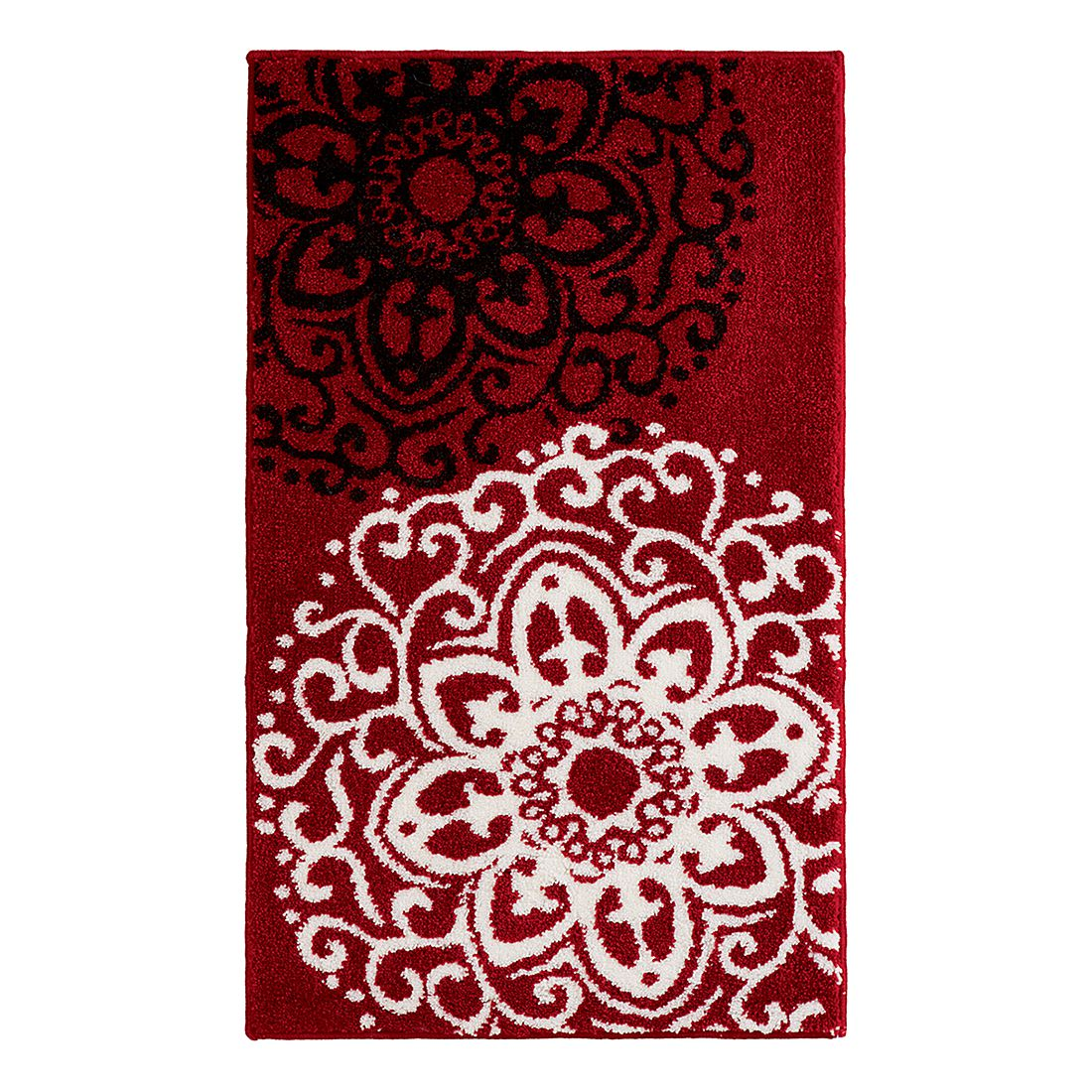 Badteppich Rosetta – Rot – WC-Vorlage ohne Ausschnitt, Grund günstig kaufen