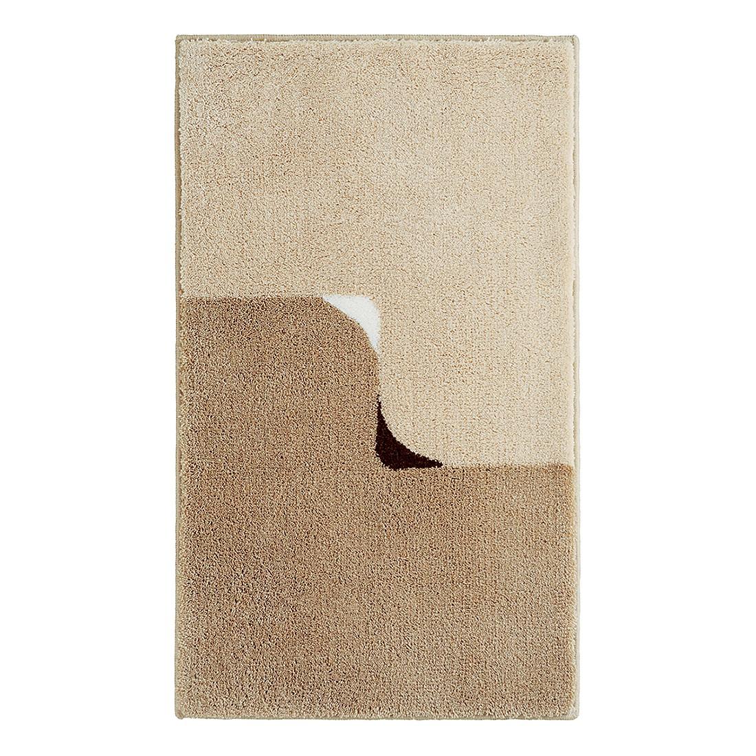 Badteppich Twin – Sand – Set 2-tlg mit Ausschnitt, Grund günstig online kaufen