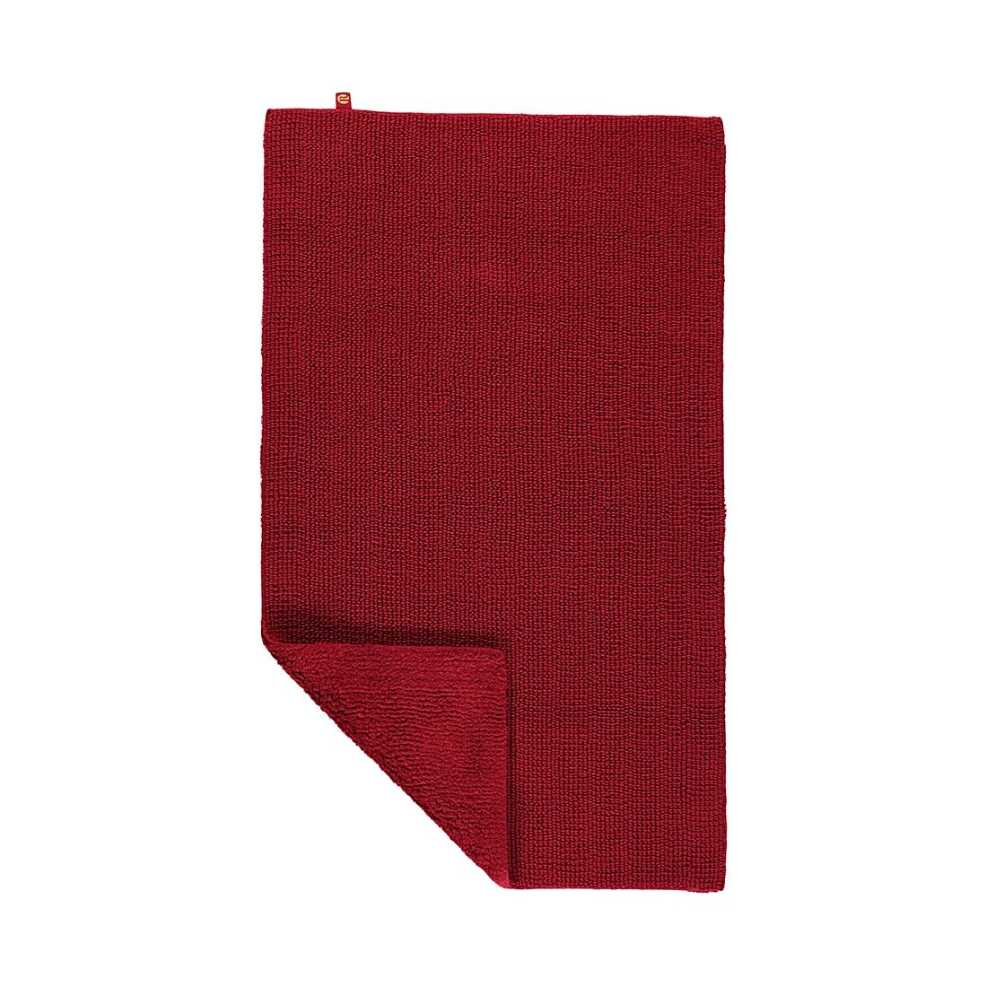 Badteppiche Pur - 100% Baumwolle cardinal - 349 - 70 x 130 cm, Rhomtuft