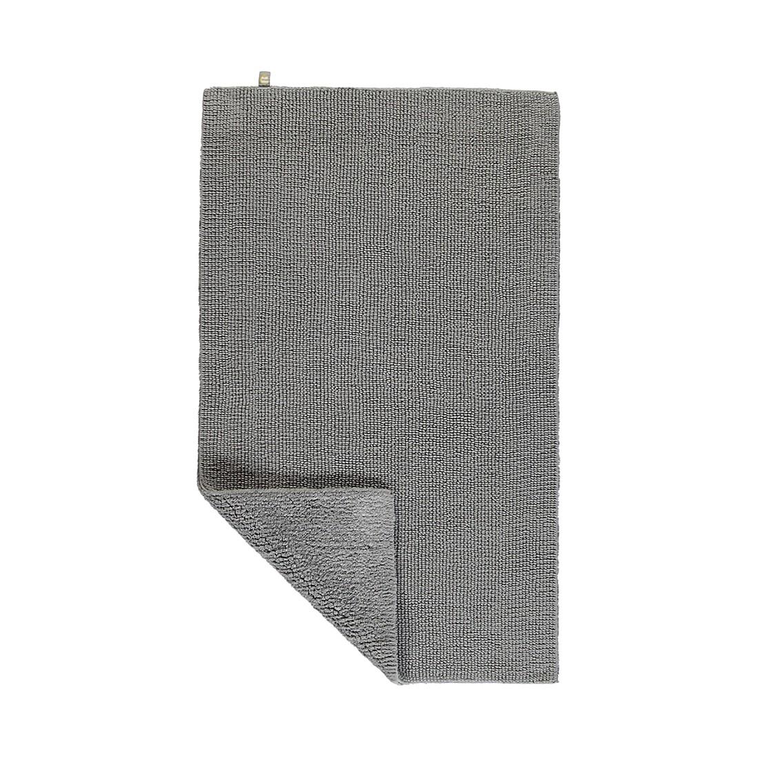 Badteppiche Pur - 100% Baumwolle kiesel - 85 - 70 x 130 cm, Rhomtuft